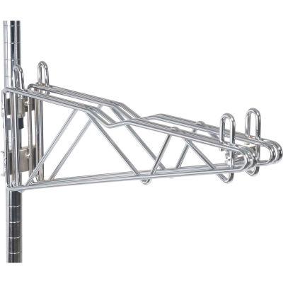 "12"" Double Adjustable Shelf Bracket - Chrome"