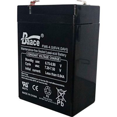 Global Industrial™ Replacement 6V 4Ah Lead-Acid Rechargeable Battery For 318503 & 224241