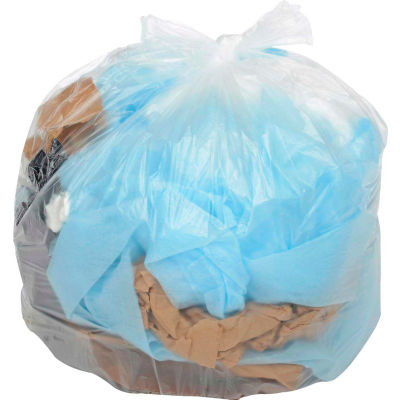 Global Industrial™ Light Duty Natural Trash Bags - 2 to 4 Gal, 0.23 Mil, 2000 Bags/Case