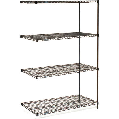 "Nexel® Black Epoxy Wire Shelving Add-On 54""W x 14""D x 54""H"