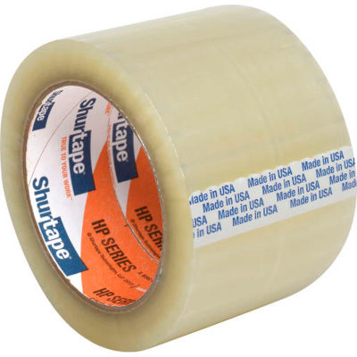 "Shurtape® HP 200 EZ Production Grade Hot Melt Packaging Tape 3"" x 110 Yds. 1.8 Mil Clear - Pkg Qty 24"