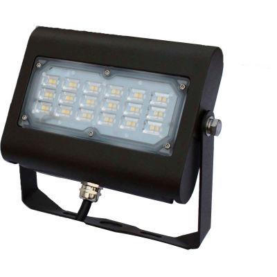 Commercial LED CLF4-305YKBR LED Flood Light, 30W, 3450 Lumens, 5000K, Yoke Mount, Bronze, DLC 4.4