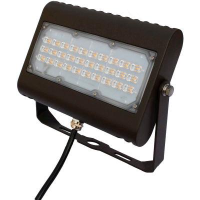 Commercial LED CLF4-50P5YKBR LED Flood Light, 50W, 6500 Lumens, 5000K, Yoke Mount, Bronze, DLC 4.4
