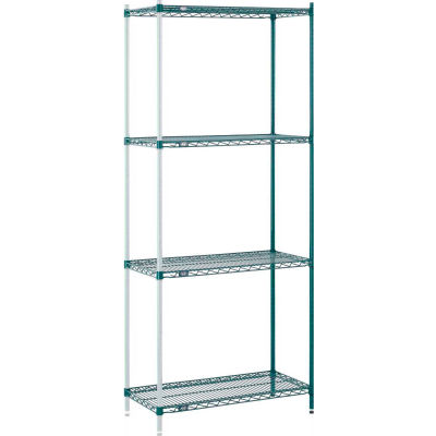 "Nexel® Poly-Green® Wire Shelving Add-On 36W"" x 12""D x 63""H"