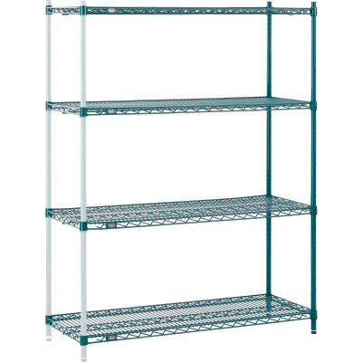 "Nexel® Poly-Green™ Wire Shelving Add-On 48W"" x 12""D x 54""H"