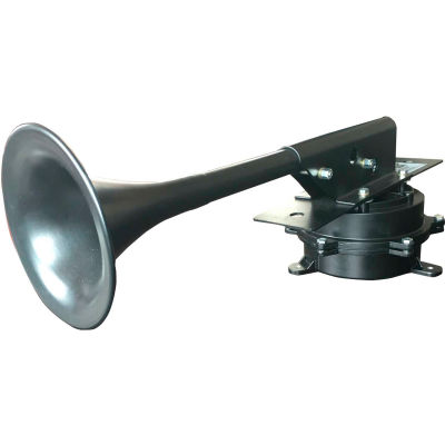 Wolo 390-24 Mighty Mo™ Heavy Duty Industrial Horn, 24 Volt, 5.9 Amps, DBA: 124 @ 1 M, IP67, Black