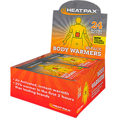 Occunomix Heat Pax 1101-80B Body Warmers 40/Pack, 1101-80B