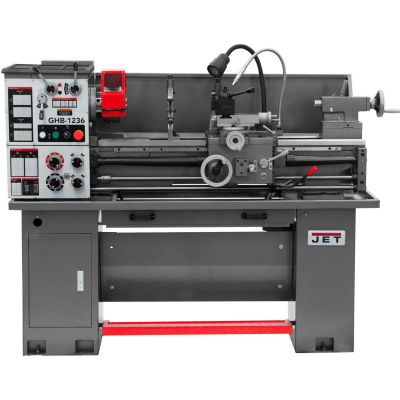 JET® 323231 GHB-1236 Geared Head Bench Lathe with Stand & Foot Brake & Newall DP700 DRO