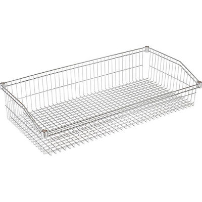 "Nexel Wire Shelf Individual Basket 48""W x 24""D"
