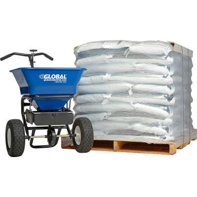 FREE Global™ Universal Spreader 100 Lb. Capacity + 1 Pallet 50 - 50 Lb. Bags of Rock Salt