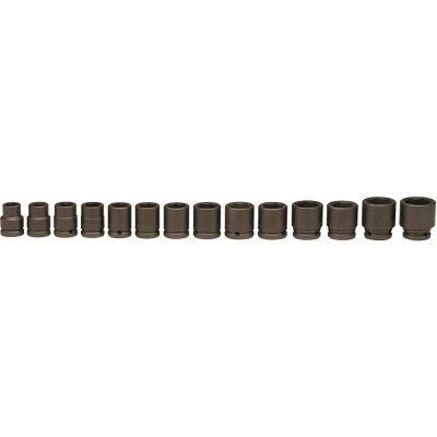 "Wright Tool 610 3/4"" Drive 3/4""-1-5/8"" 6 Point 14 Piece SAE Standard Impact Socket Set"