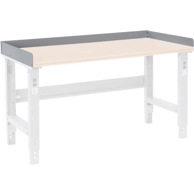 """Global Industrial™ Back and End Stops For Workbench Top - 96""""W x 36""""D x 3""""H - Gray"""