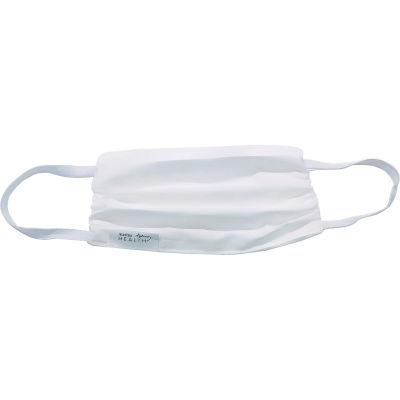 Cloth Face Mask, Reusable/Washable, Gathered Edge, 2-Layer, White, 10/Bag