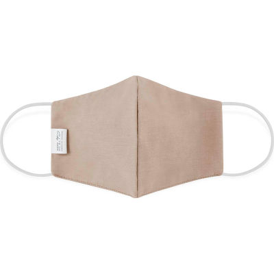 Cloth Face Mask, Reusable/Washable, 2-Layer Contour, Khaki, Large, 10/Bag