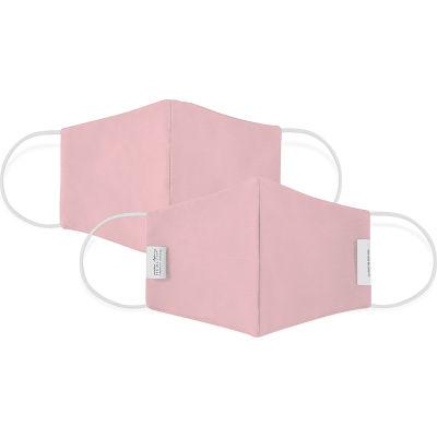 Reusable Youth Cloth Face Mask, Washable, 3-Layer Contour, Blush, 10/Bag