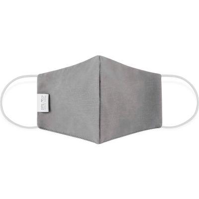Cloth Face Mask, Reusable/Washable, 2-Layer Contour, Large, Gray, 10/Bag