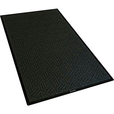 """Global Industrial™ Scraper/Wiper Entrance Mat, 3/8"""" Thick, 3'Wx5'L, Charcoal Black"""