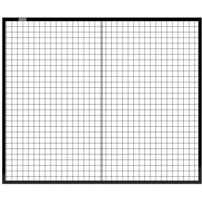 Global Industrial™ 6' W Machine Wire Guard Panel Black