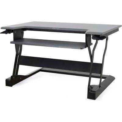 Ergotron® WorkFit-T Sit-Stand Desktop Workstation, Black
