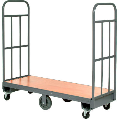 Global Industrial™ Best Value Wood Deck Narrow Aisle U-Boat Platform Truck 60x16 1500 Lb. Cap.