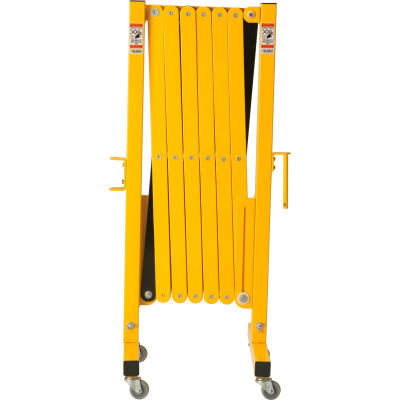 Global Industrial™ Portable Steel Barricade Gate With Casters