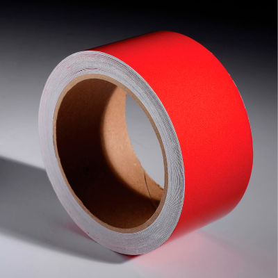 """INCOM® Safety Tape Reflective Solid Red, 2""""W x 30'L, 1 Roll"""