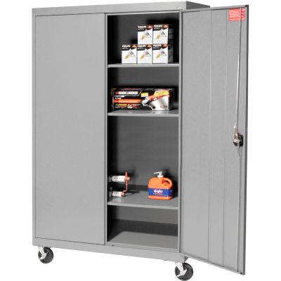 Sandusky Mobile Storage Cabinet TA3R462460- 46x24x66, Gray