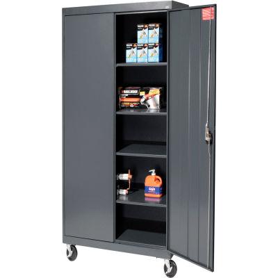 Sandusky Mobile Storage Cabinet TA4R362472 - 36x24x78, Charcoal