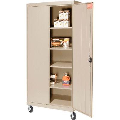 Sandusky Mobile Storage Cabinet TA4R362472 - 36x24x78, Putty