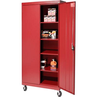 Sandusky Mobile Storage Cabinet TA4R362472 - 36x24x78, Red