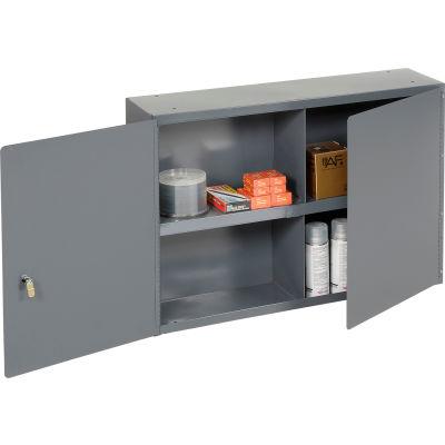 "Durham Utility Wall Mount Cabinet 343-95 Dark Gray - 33-3/4""W x 8-1/2""D x 22-1/4""H"