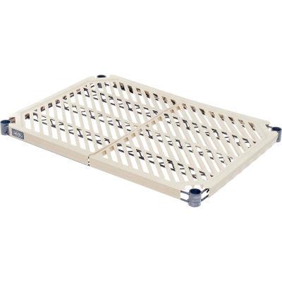 "Nexelite® Nexel PM2172N Vented Plastic Mat Shelf 72""W x 21""D Nexelon with Clips"