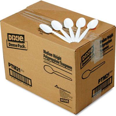 Dixie® DXEPTM21, Teaspoons, Plastic, White, 1000/Carton
