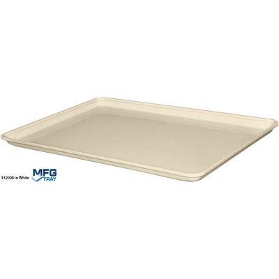 "Molded Fiberglass Drying Tray for Rack System 25 3/4"" x 17 7/8"" x 1 1/8"" White"
