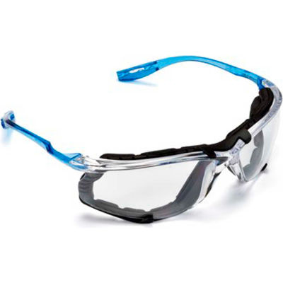 3M™ Virtua™ Safety Glasses with Foam Gasket, Blue Frame, Clear Lens