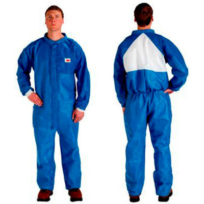 3M™ Disposable Coverall, Knit Cuffs & Knit Ankles, Blue, 2X-Large, 4530CS-BLK-XXL, 25/Case