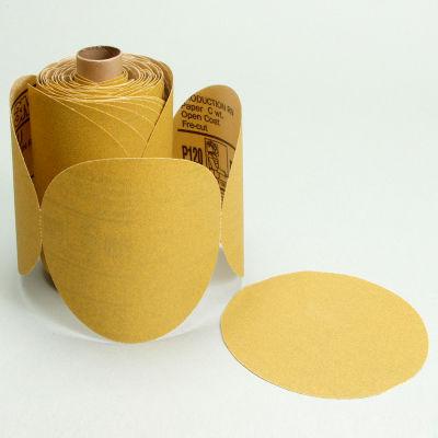 """3M™ Stikit™ Paper Disc Roll 236U 5"""" X NH Aluminum Oxide P100 100 discs per roll"""