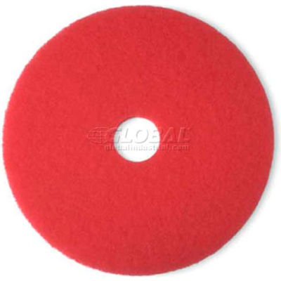 "3M™ 20"" Buffing Pad, Red, 5 Per Case"