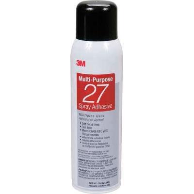 3m™ Multi-Purpose 27 Spray Adhesive, 20 Fl Oz Can, Net Weight 13.05 Oz, 62490649209 - Pkg Qty 12