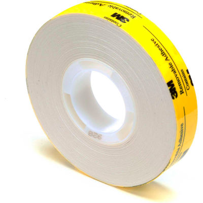 "3M™ Scotch® 928 ATG Repositionable Double Coated Tissue Tape 1/2"" x 18 Yds. 2 Mil White - Pkg Qty 72"