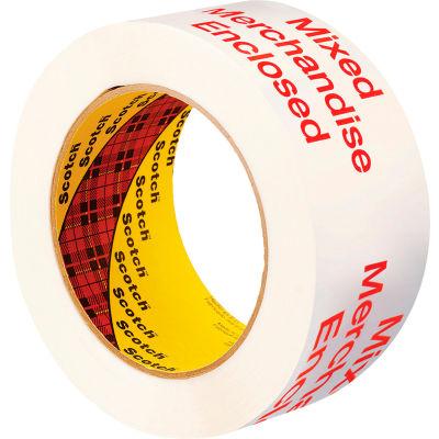 "3M™ Scotch® 3775 Printed Message Carton Sealing Tape 2"" x 110 Yds.1.9 Mil White/Red - Pkg Qty 36"