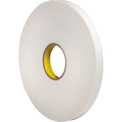 "3M™ 4466 Double Coated Polyethylene Foam Tape 3/4"" x 36 Yds. 62 Mil White - Pkg Qty 12"