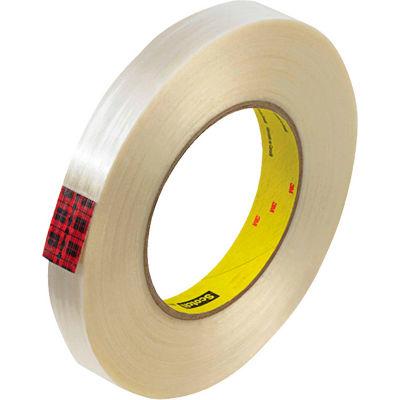 """3M™ Scotch® 890MSR Filament Tape 3/4"""" x 60 Yds. 8 Mil Clear - Pkg Qty 48"""