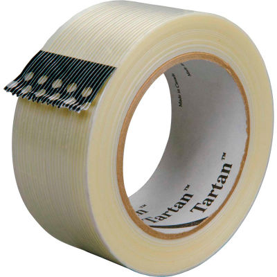"3M™ Tartan™ 8932 Strapping Tape 2"" x 60 Yds. 3.75 Mil Clear - Pkg Qty 24"