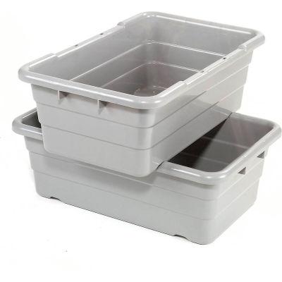 Cross Stack Nest Tote Tub TUB2516-8 -  25-1/8 x 16 x 8-1/2 Gray - Pkg Qty 6