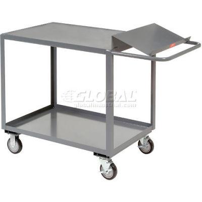 2 Shelf Order Picking Cart 36x24 Flush Top Shelf