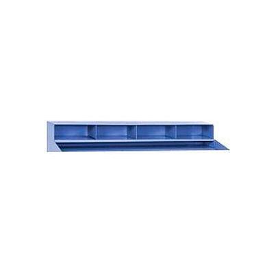 "4 Pigeonhole Compartment Riser for Pucel 48""W Extra-Wide Shop Desk - Blue"