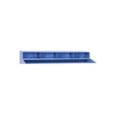 """Global Industrial™ 4 Pigeonhole Compartment Riser for Pucel 48""""W Extra-Wide Shop Desk - Blue"""