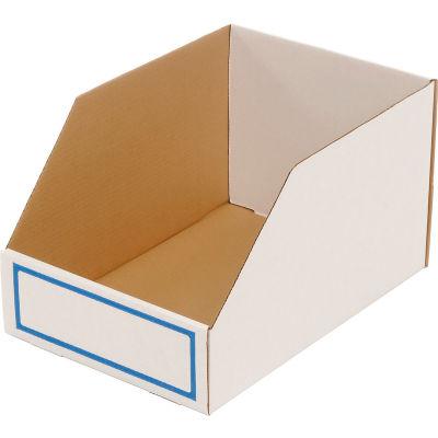 """Foldable Corrugated Shelf Bin 11-3/4""""W x 17-1/2""""D x 10""""H, White - Pkg Qty 27"""