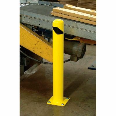 "Global Industrial™ Floor Mount Round Safety Bollard, Yellow, 4.5''x42""H"